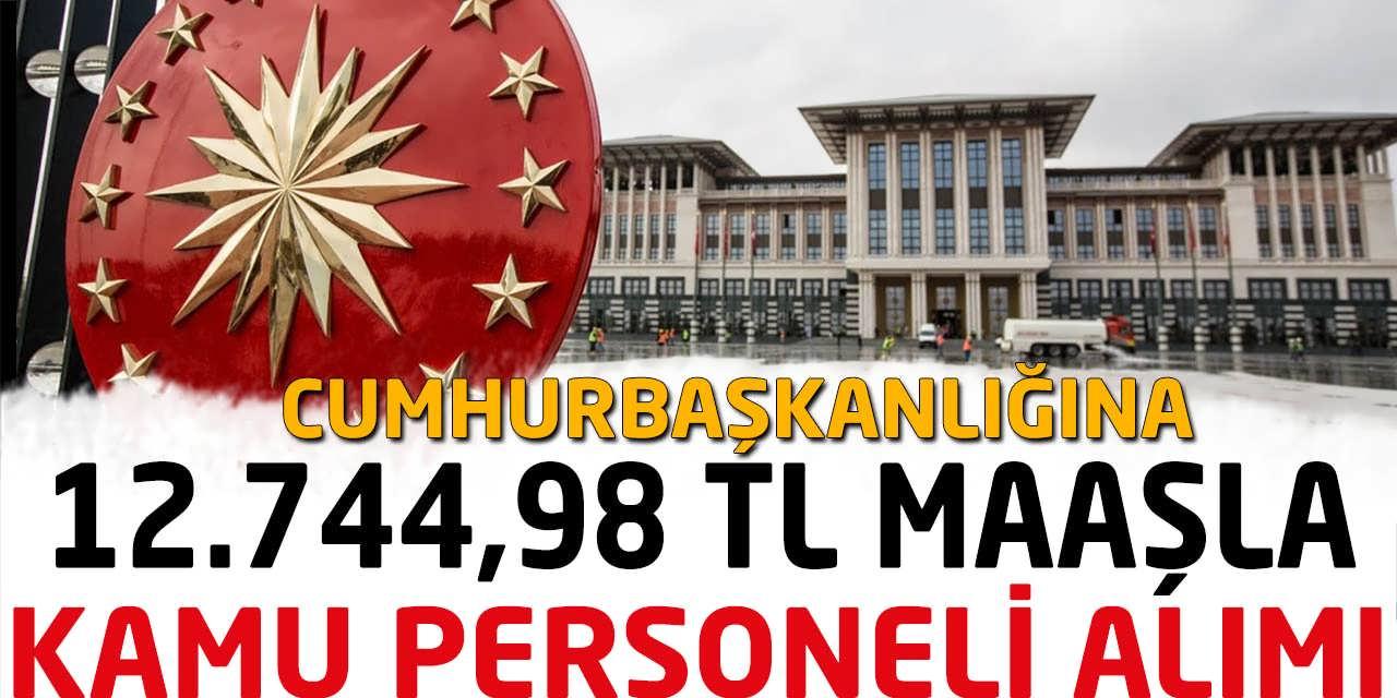 Cumhurbaşkanlığına 12 Bin 744 TL Maaşla Kamu Personeli Alımı Başvurusu Devam Ediyor