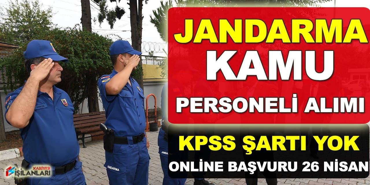Jandarma TYP Kapsamlı Kamu Personeli Alımı Yapıyor