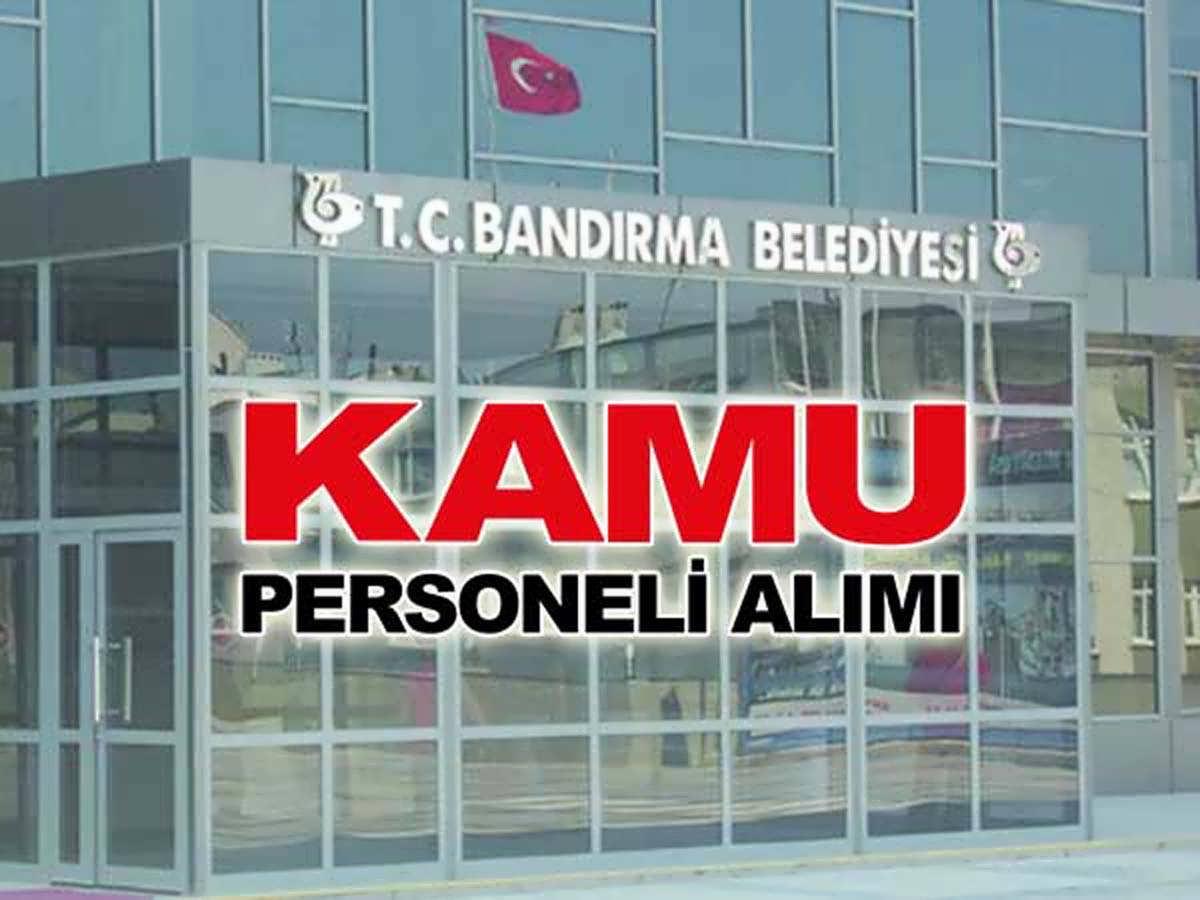 Bandırma Belediyesi Mimar ve Mühendis Alımı