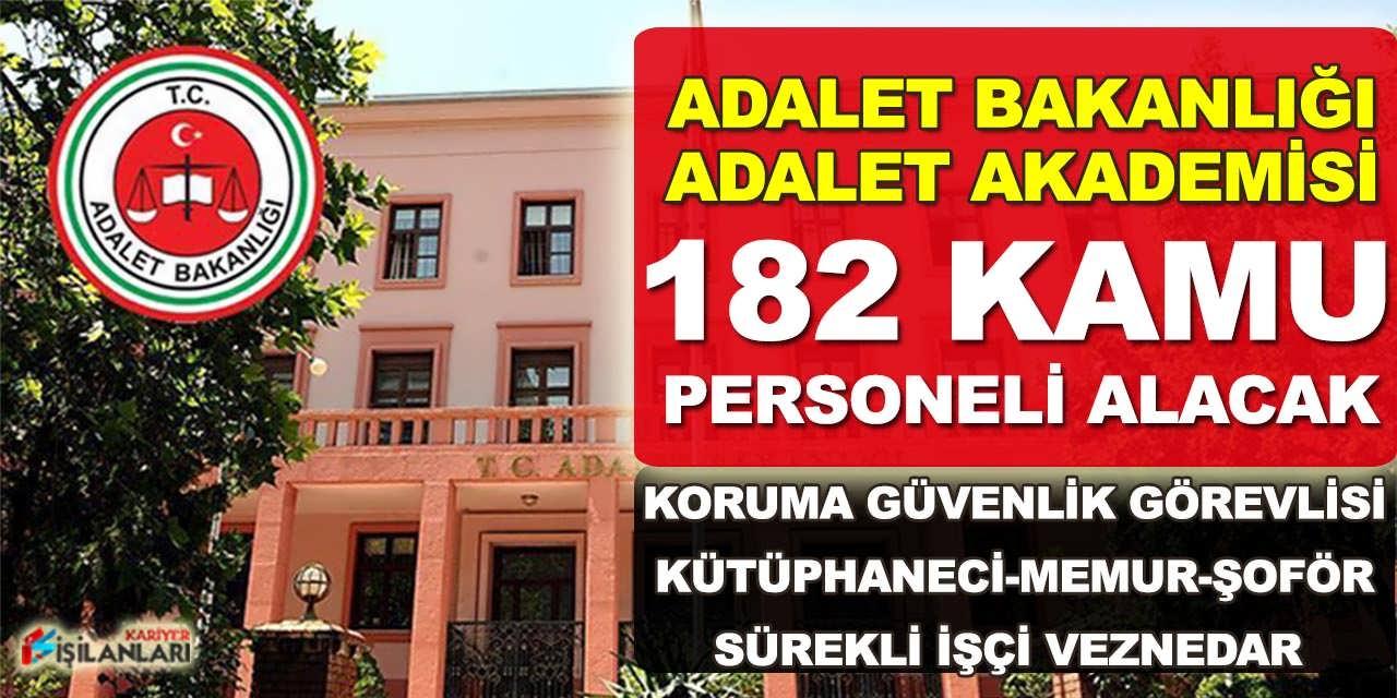 Adalet Bakanlığı 182 Kütüphaneci, Memur ve Koruma Güvenlik Görevlisi Alacak