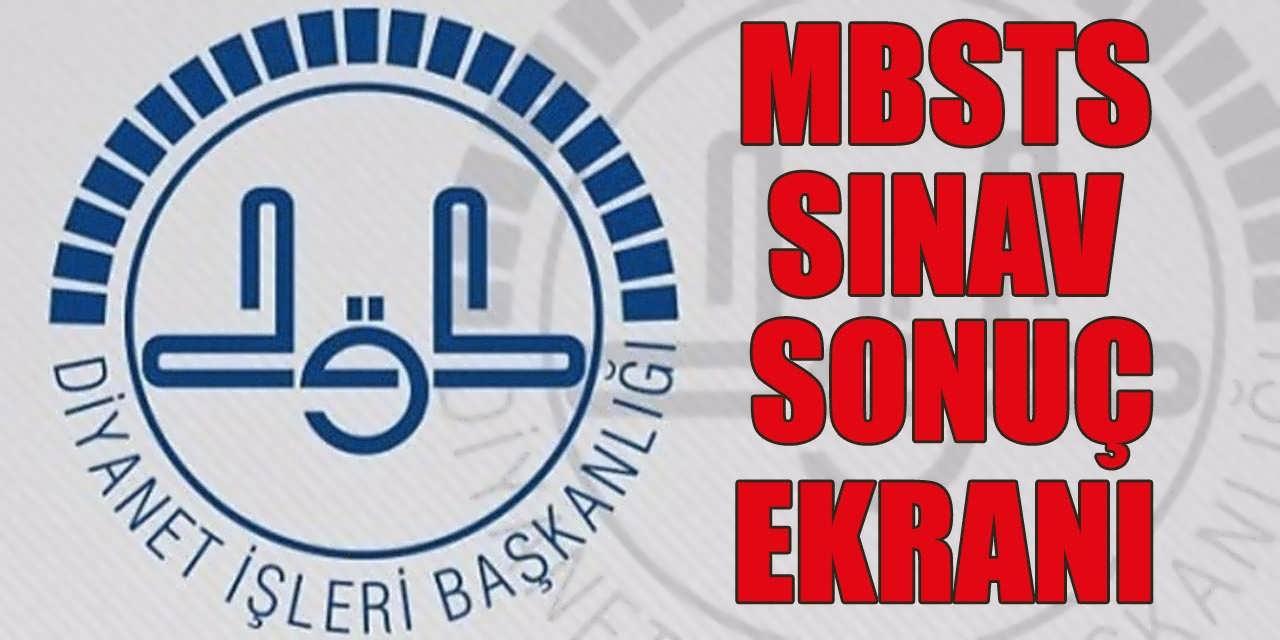 DİB MBSTS Sınav Sonuçları Sorgulama Ekranı