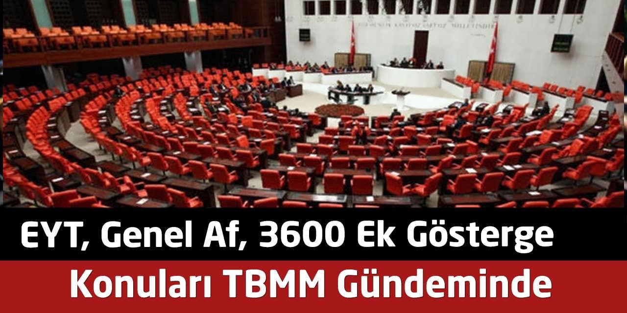 EYT, Genel Af, 3600 Konuları Meclis Gündeminde