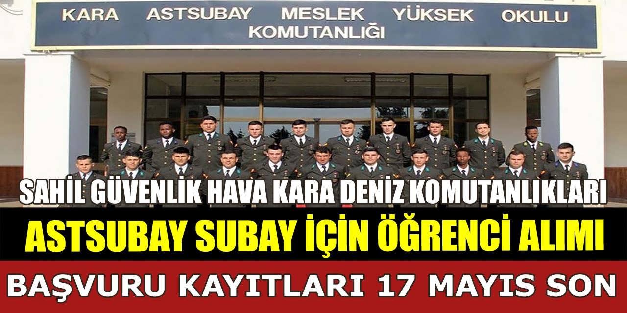 Astsubay ve Subay Alımı MSÜ Başvuruları 17 Mayıs'ta Bitiyor