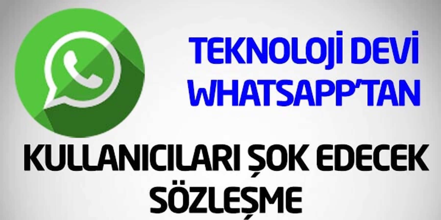 Whatsapp'ın Değişen Şartlarında Şok Edici Detay