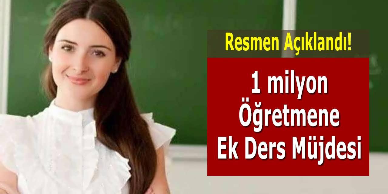 1 milyon Öğretmene Ek Ders Müjdesi