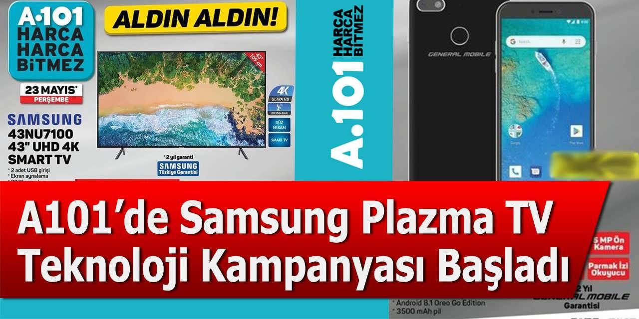 A101'de Samsung Plazma TV ve Teknoloji Kampanyası Başladı
