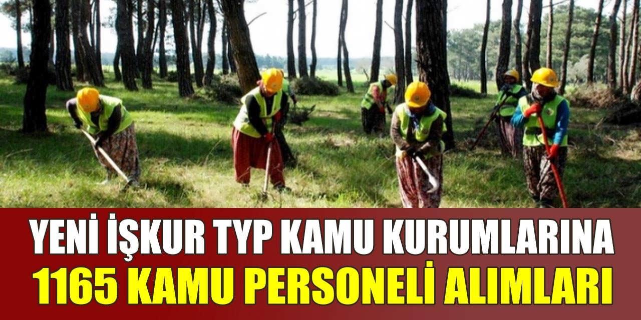 Yeni İŞKUR TYP Kamu Kurumlarına Bin 165 Kamu Personel Alımları