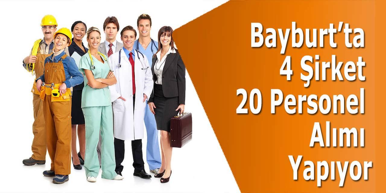 Bayburt'ta 4 Şirket 20 Personel Alımı Yapıyor