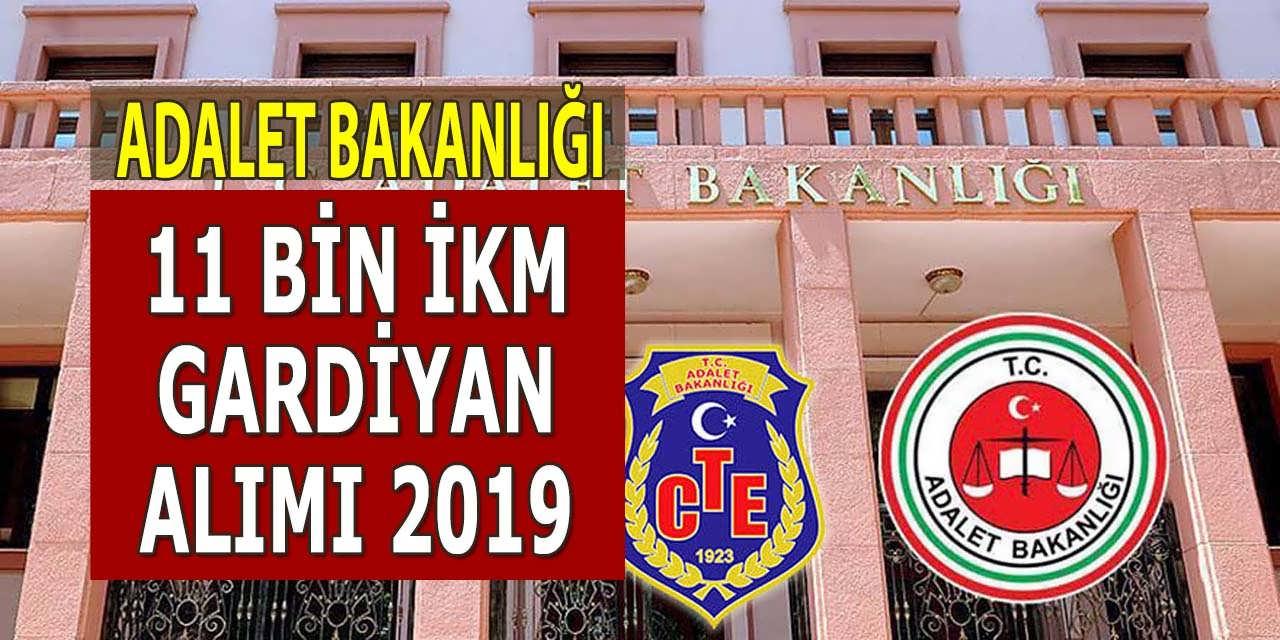 Adalet Bakanlığı 11 Bin Personel CTE Gardiyan Alımı 2019