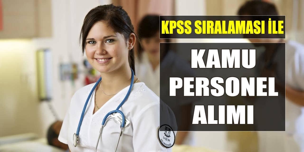 KPSS Sıralaması ile En Az Lise Mezunu Kamu Personeli Alımı Yapılıyor