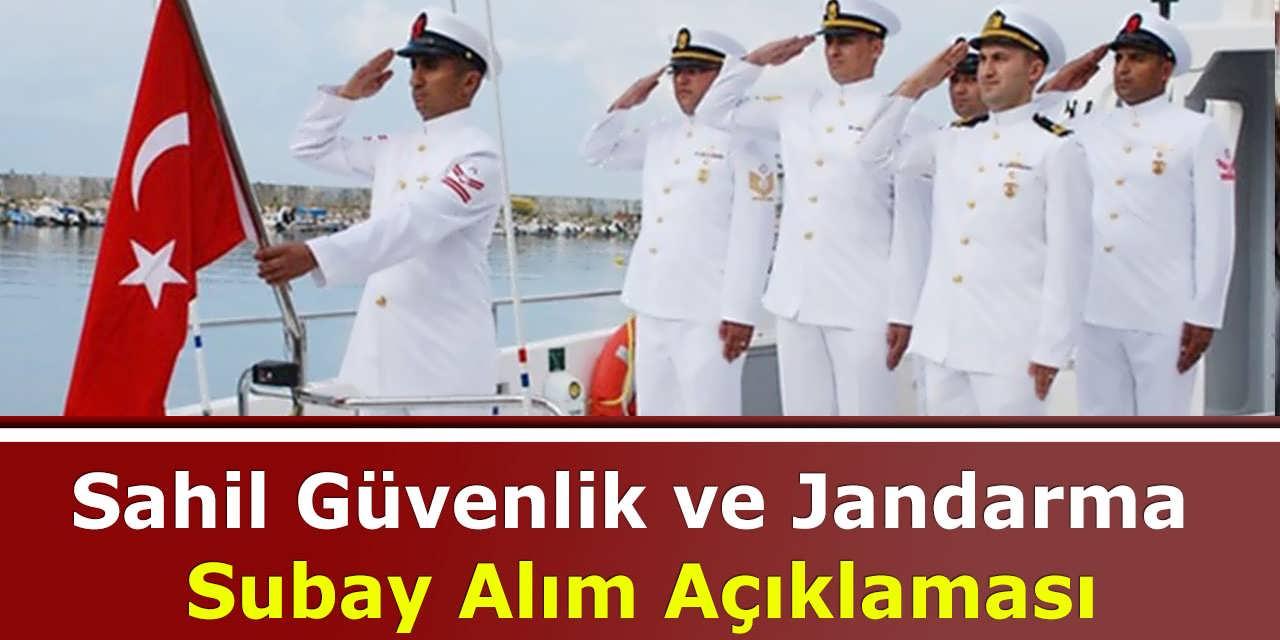Sahil Güvenlik ve Jandarma Subay Alım Açıklaması