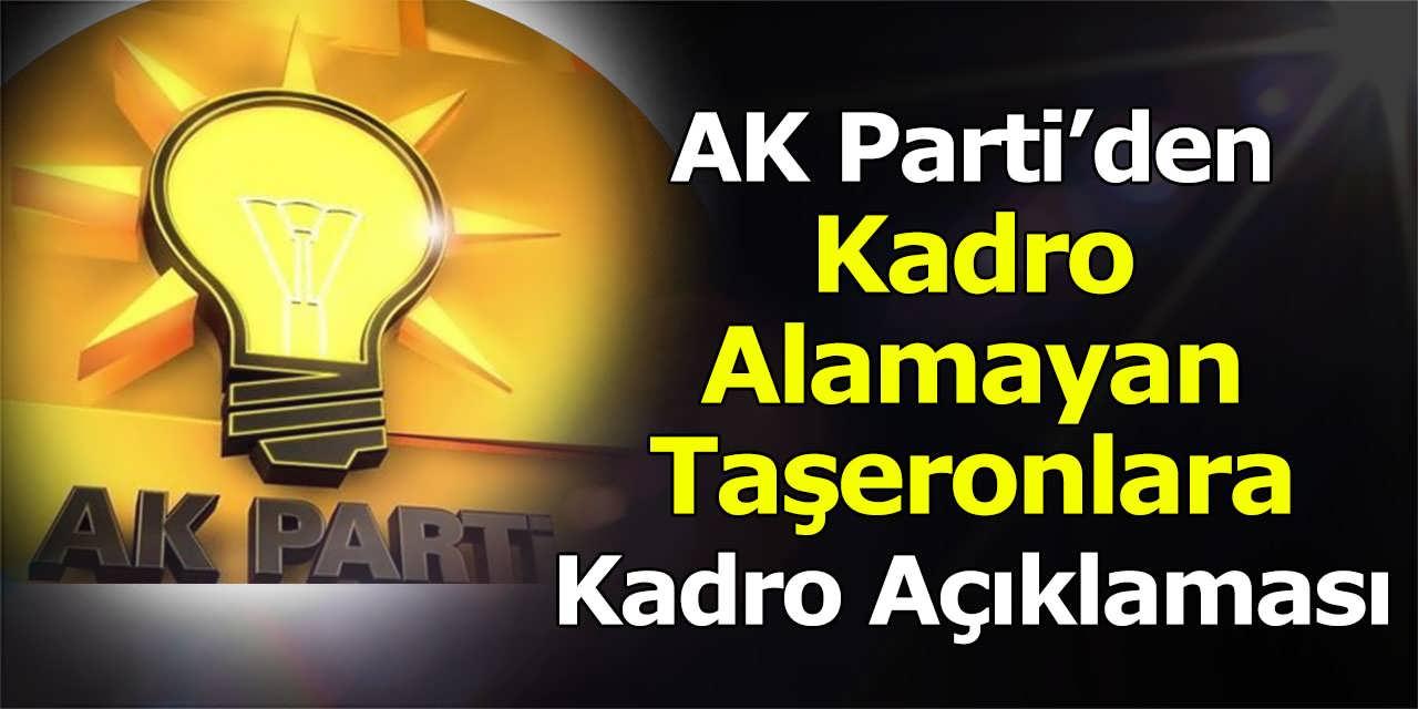 AK Parti'den Kadro Alamayan Taşeronlara Kadro Açıklaması