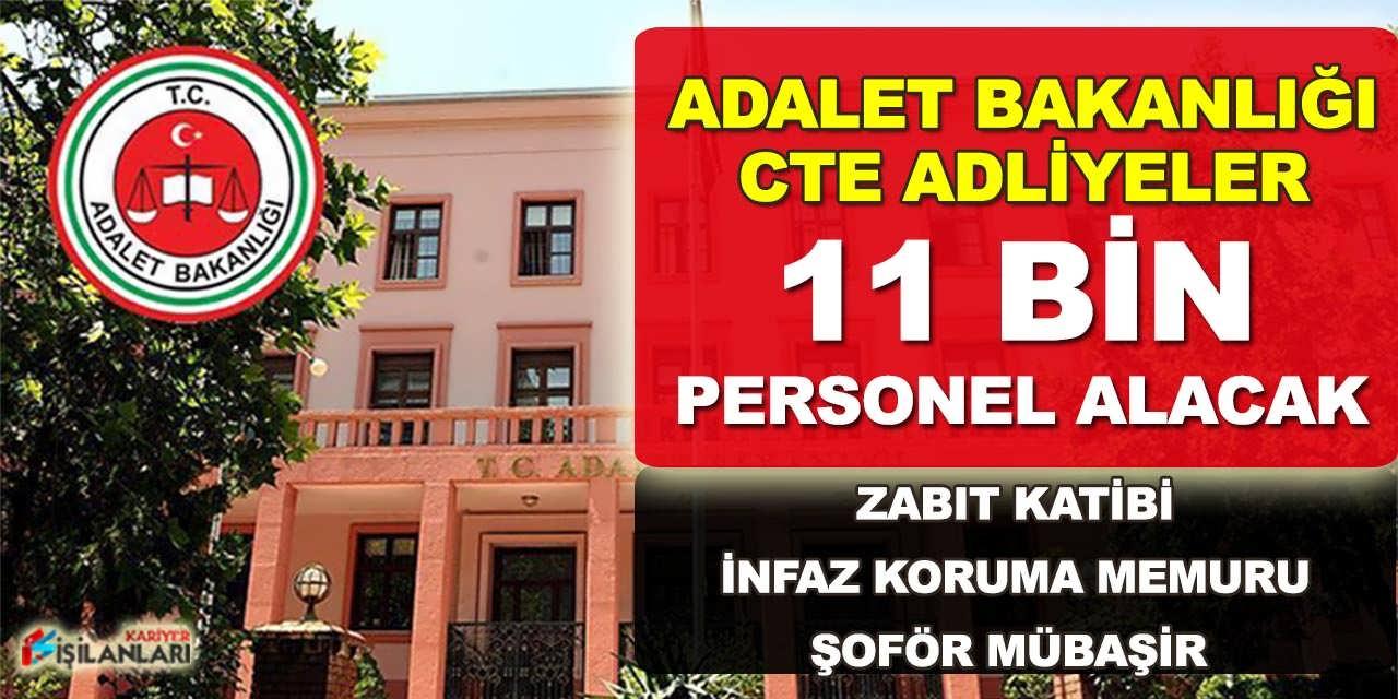 Adalet Bakanlığı 11 Bini Aşkın Memur Alacak