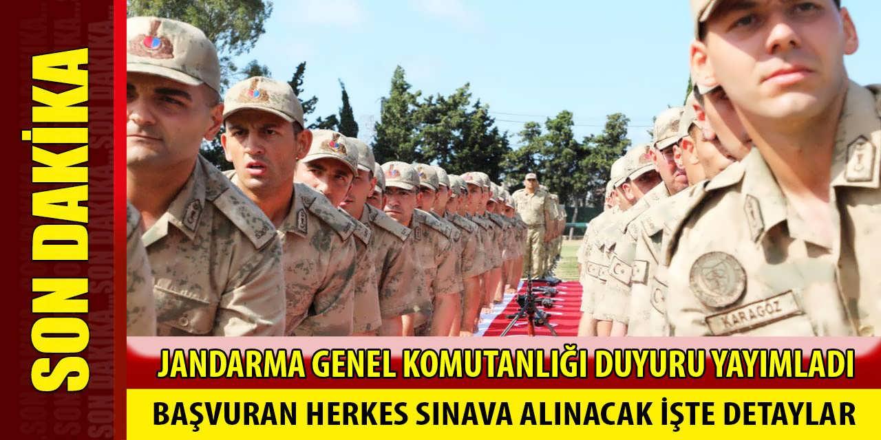 Jandarma 2019-1 Uzman Erbaş Alımı Sınavına Tüm Adaylar Alınacak