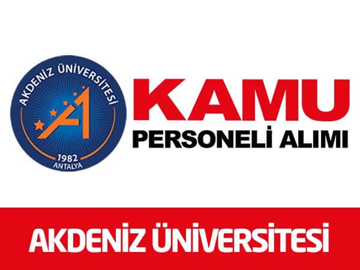 Akdeniz Üniversitesi 1 Avukat Alımı