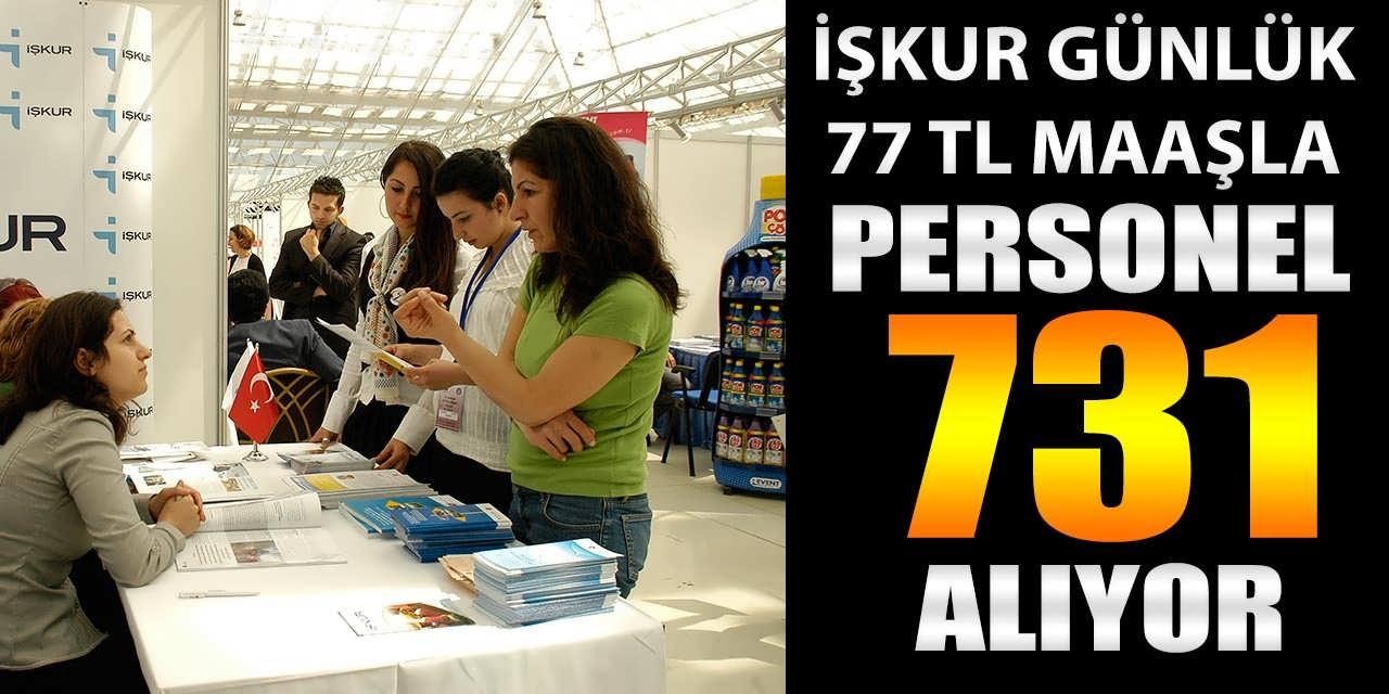 İŞKUR Günlük 77 TL Maaş İle 731 İEP Personel Alımı Yapılacak