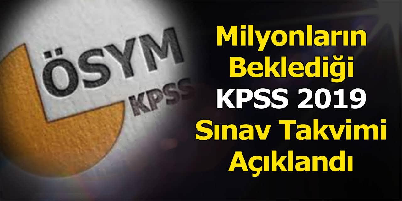 Milyonların Beklediği KPSS 2019 Sınav Takvimi Açıklandı