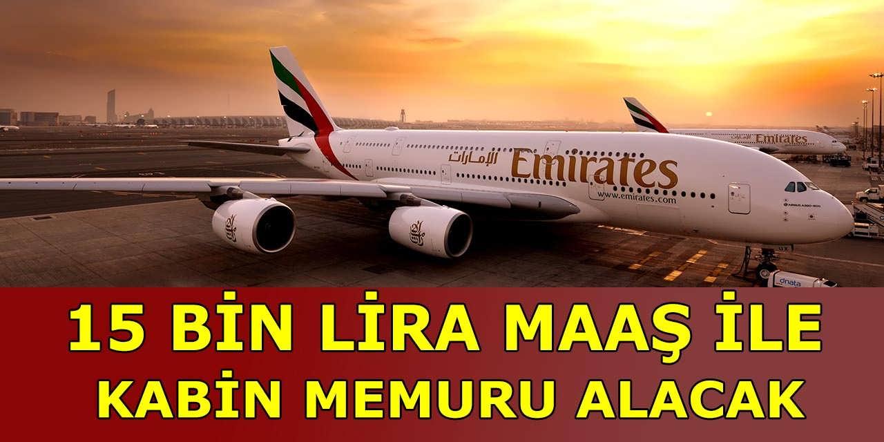 Emirates Havayolu 15 Bin Lira Maaşla Kabin Memuru Alacak