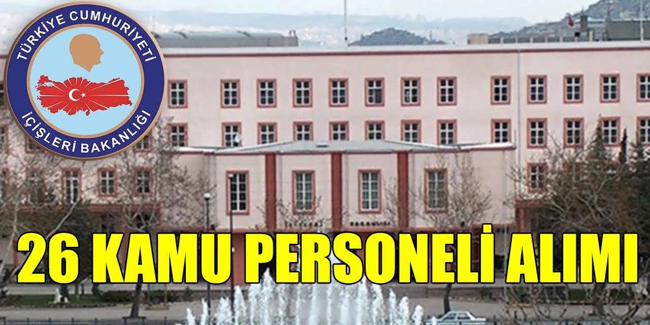 İl Özel İdare Müdürlüğü Daimi 26 Kamu Personeli Alımı Başvuruları