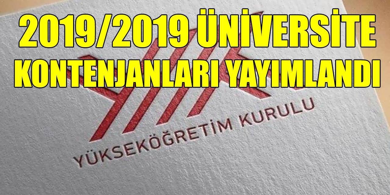 YÖK 2019/2020 Üniversite Kontenjanları Tablo Halinde Yayımladı