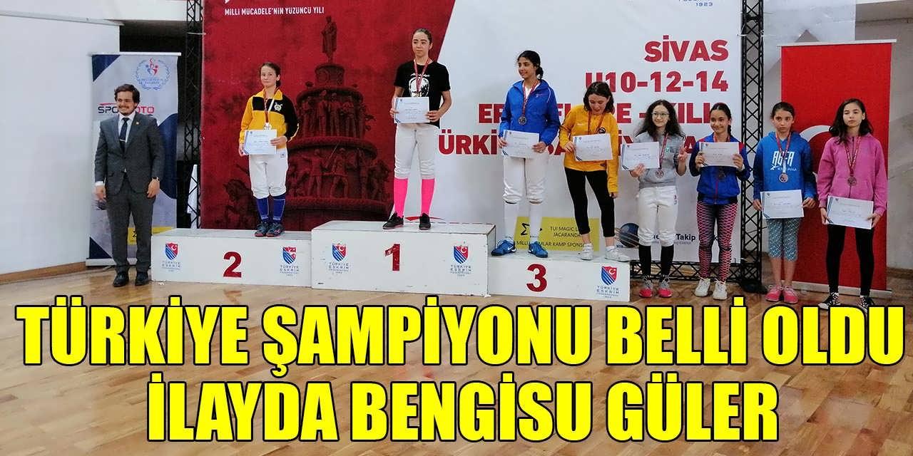 Eskrim Türkiye Şampiyonu Adıyaman Gölbaşı'ndan Çıktı! Altın Madalya İlayda Bengisu Güler'in Oldu
