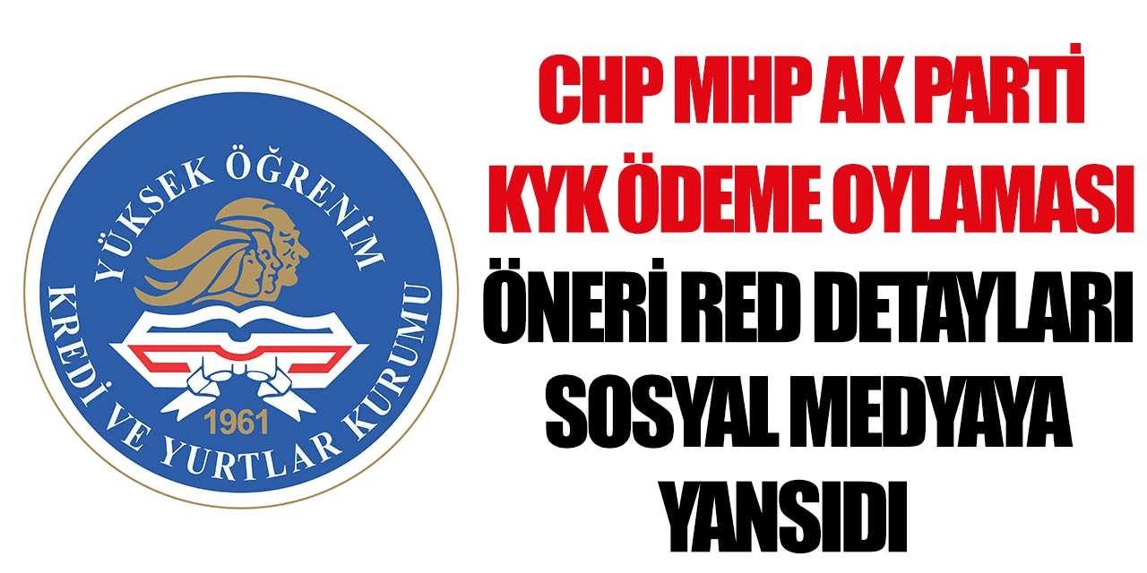 KYK Son Dakika Gelişmesi Önerildi ve Red Edildi! CHP MHP ve Ak Parti KYK Detayları