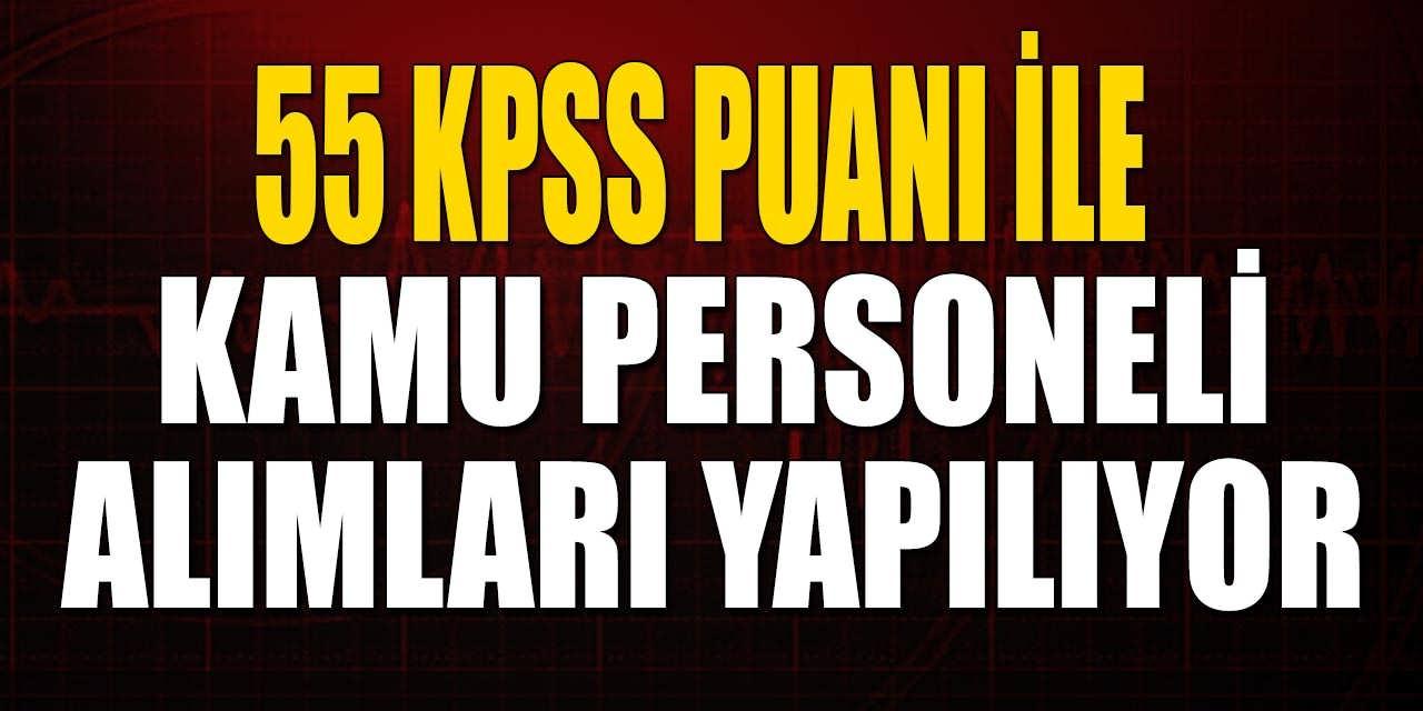 55 KPSS Puanlı Lise Önlisans Lisans Mezun Kamu Personeli Alımları