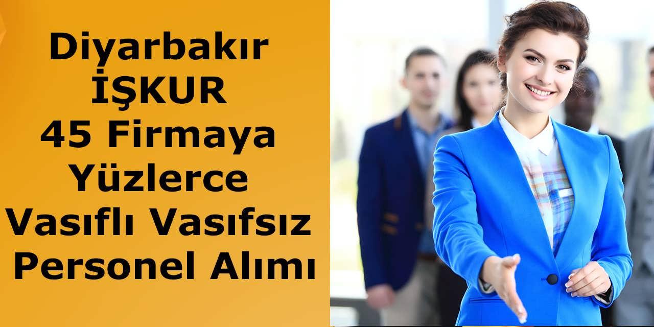 Diyarbakır İŞKUR 45 Firmaya Yüzlerce Vasıflı Vasıfsız Personel Alımı