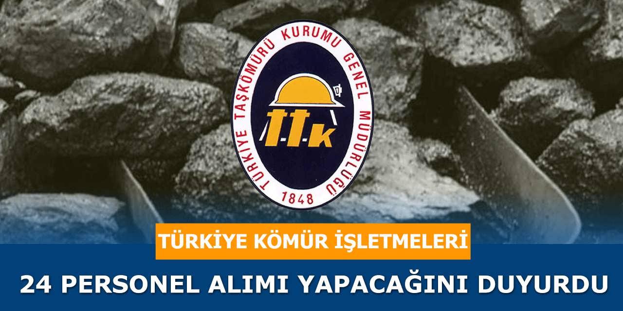 Türkiye Kömür İşletmeleri 24 Personel Alımı Yapacağını Duyurdu