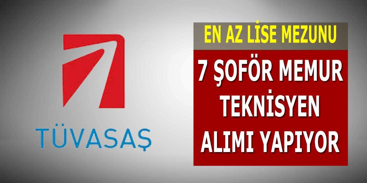 Türkiye Vagon Sanayi En Az Lise Mezunu 7 Şoför Memur Teknisyen Alım İlanı Yayınladı