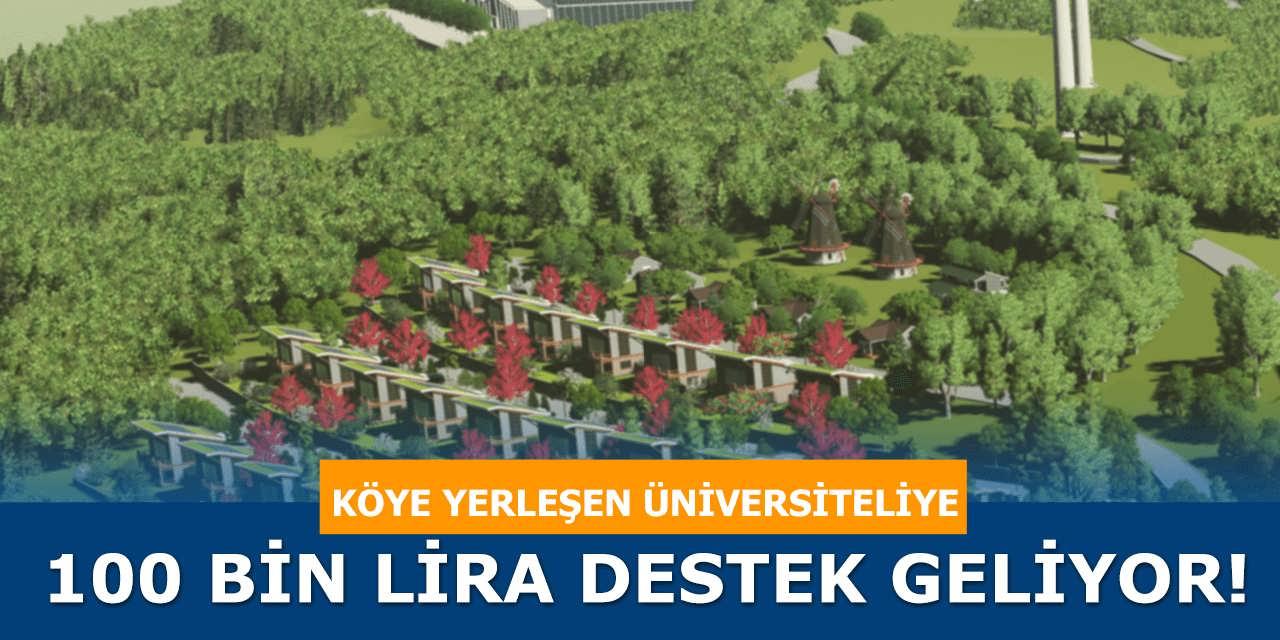 Üniversite Mezunu Olup Kırsala Yerleşenlere 100 Bin Lira Destek