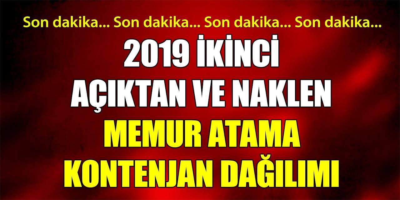 2019 İkinci Açıktan ve Naklen Memur Atama Kontenjanları Belirlendi