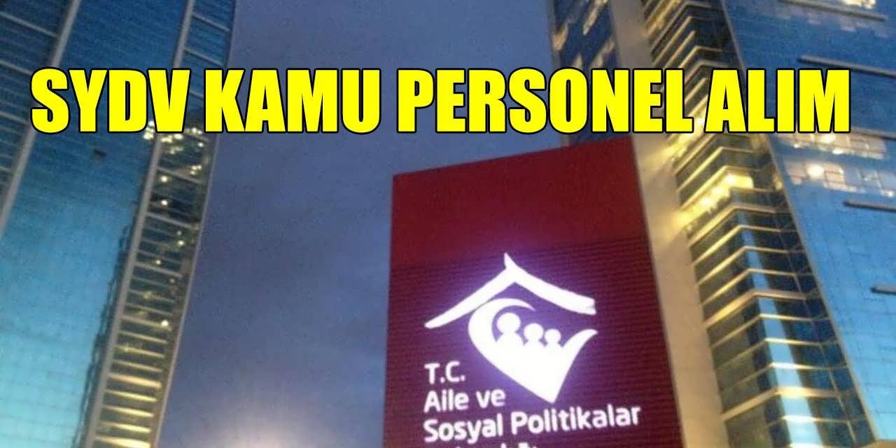Aile Bakanlığı SVDV İstanbul İçin 3 Kamu Personeli Alımı Yayımladı