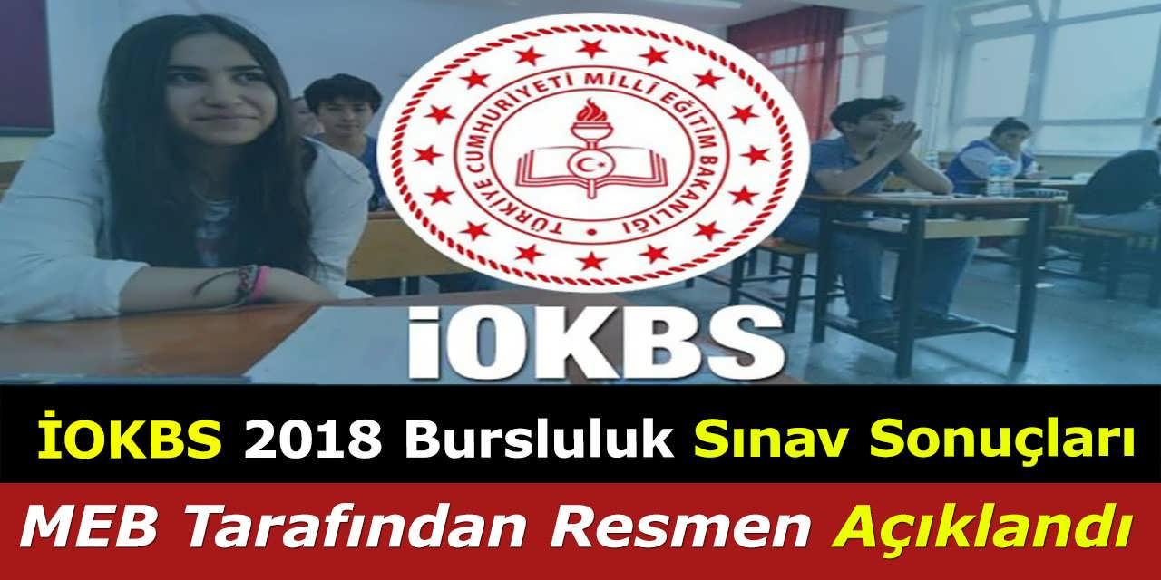 İOKBS 2018 Bursluluk Sınav Sonuçları, MEB Tarafından Resmen Açıklandı