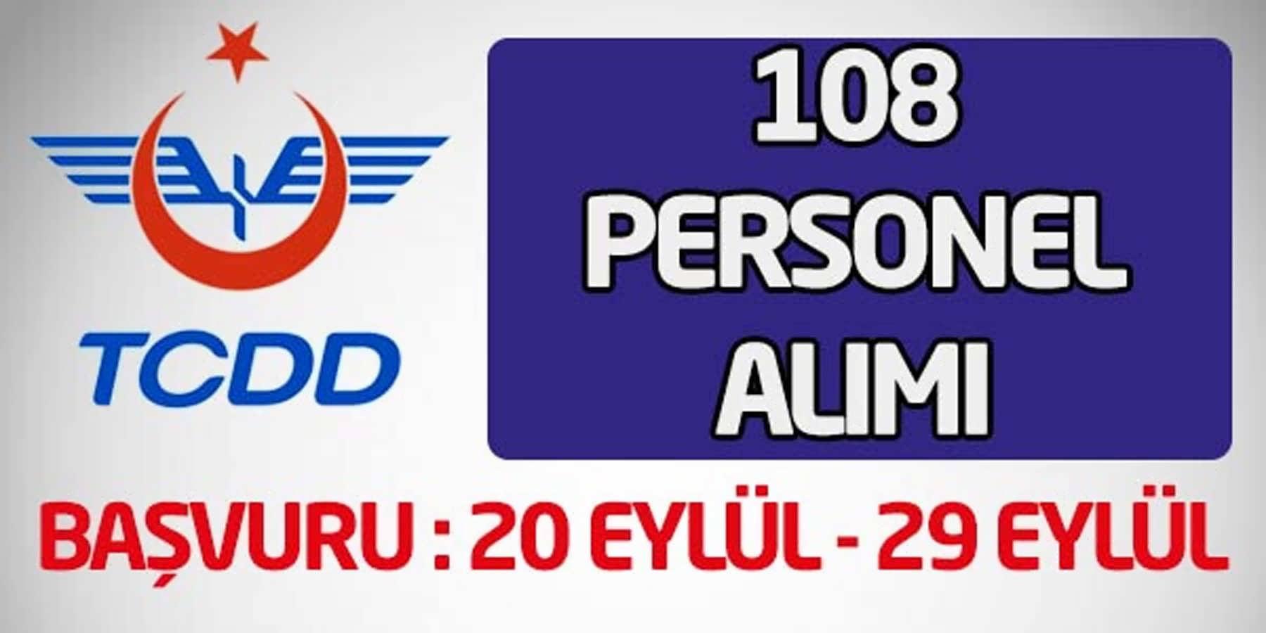 TCDD 108 Personel Alımı