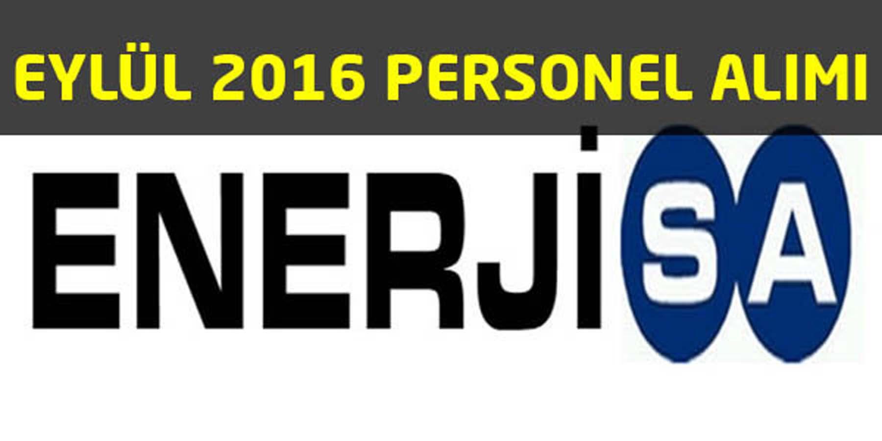 Enerjisa Eylül 2016 Personel alımı
