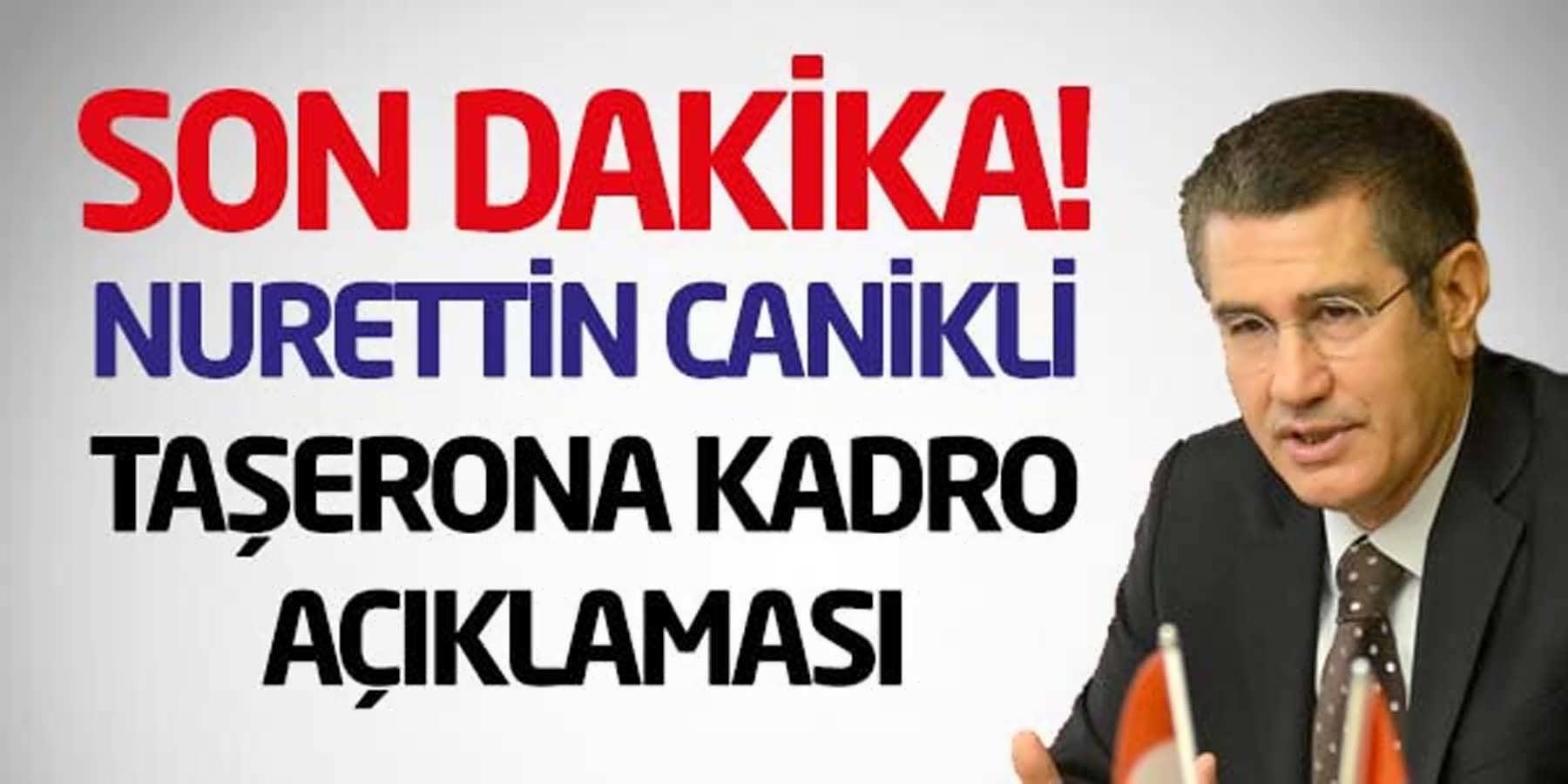 Nurettin Canikli 9 Eylül Taşerona Kadro Açıklaması