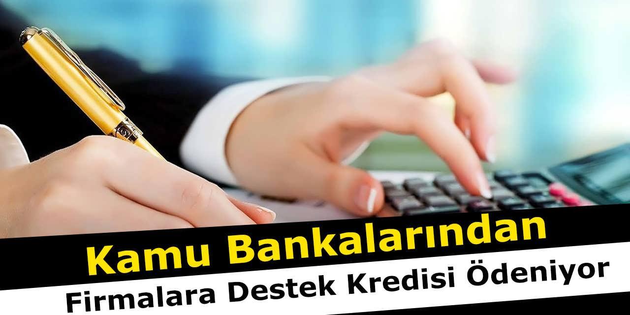 Kamu Bankalarından Firmalara Destek Kredisi Ödeniyor