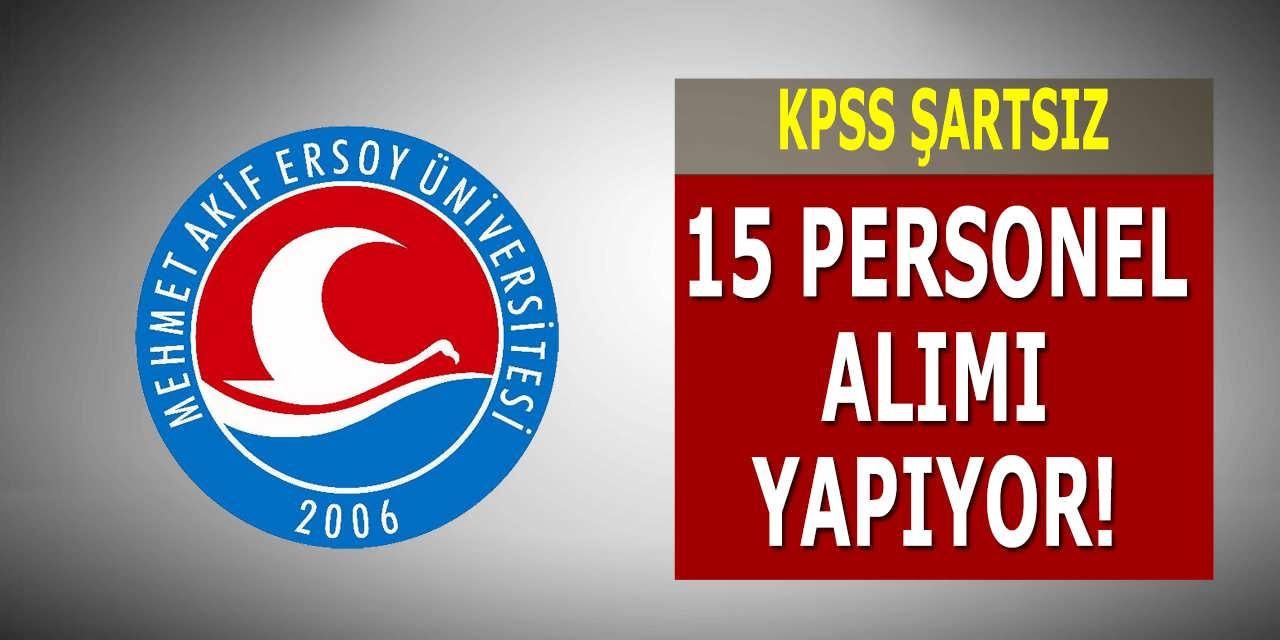 Mehmet Akif Ersoy Üniversitesi 15 İşçi Alımı Yapıyor