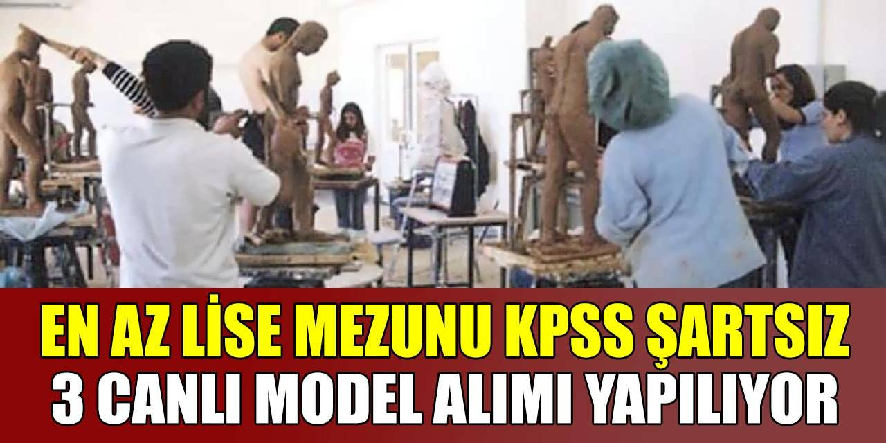 En Az Lise Mezunu KPSS Şartsız 3 Canlı Model Alınacak
