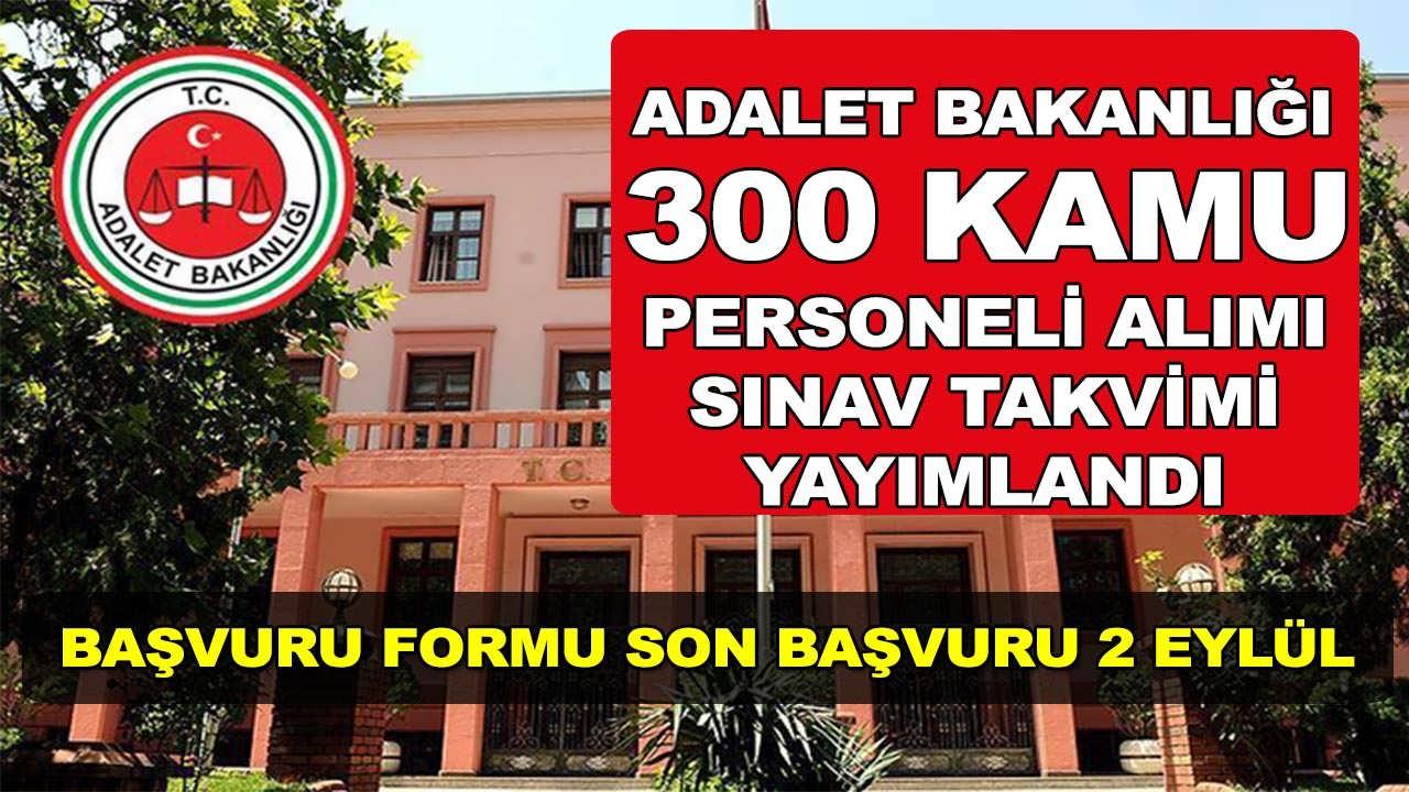 Adalet Bakanlığı 300 Memur Alımı Sınav Takvimi Açıklandı