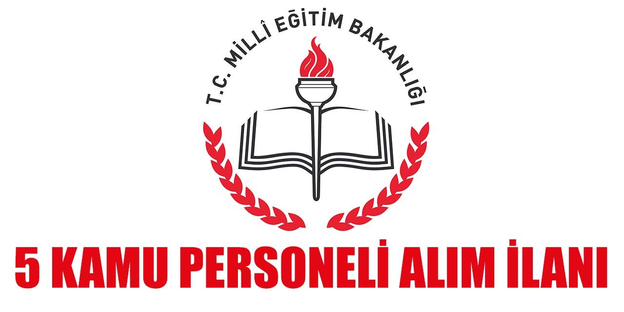İl Milli Eğitim Müdürlüğü 5 Kamu Personeli Alımı İŞKUR'dan Yapacak