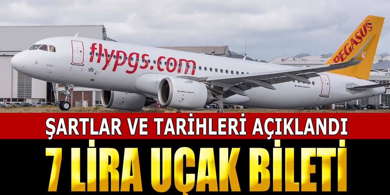 PEGASUS 7 Lira Uçak Bileti Alım Şartlarını Duyurdu