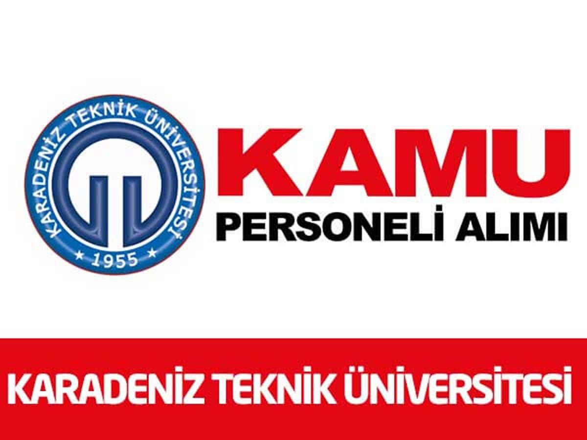 Karadeniz Teknik Üniversitesi 13 Sözleşmeli Personel Alımı
