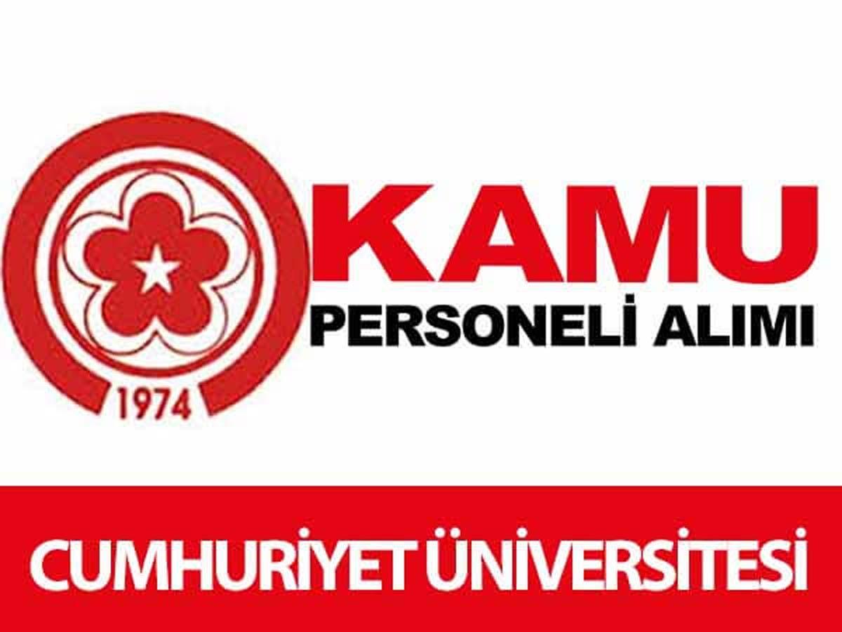 Cumhuriyet Üniversitesi 14 Sağlık Personeli Alımı