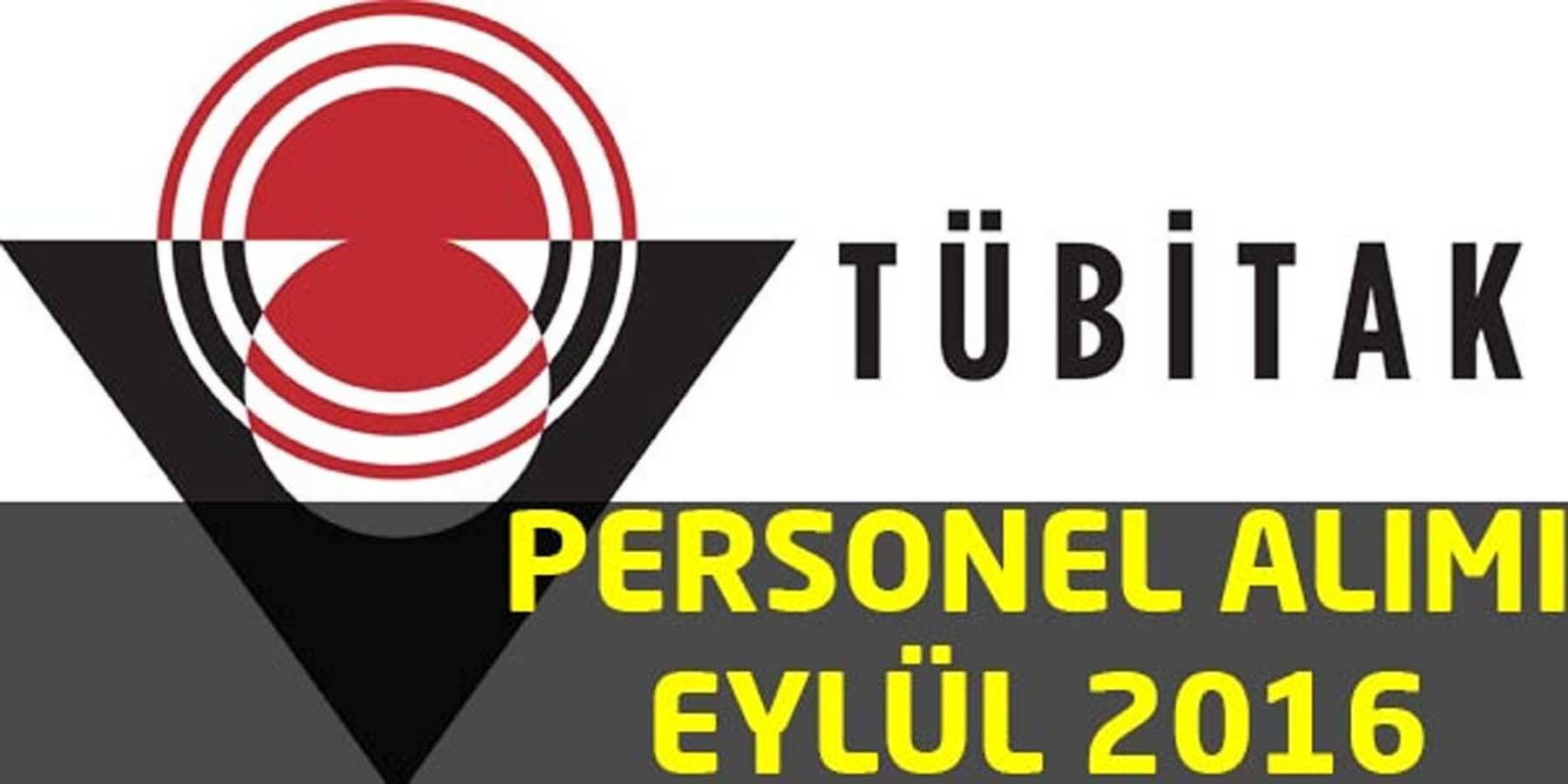 Tübitak Personel Alımı Eylül 2016