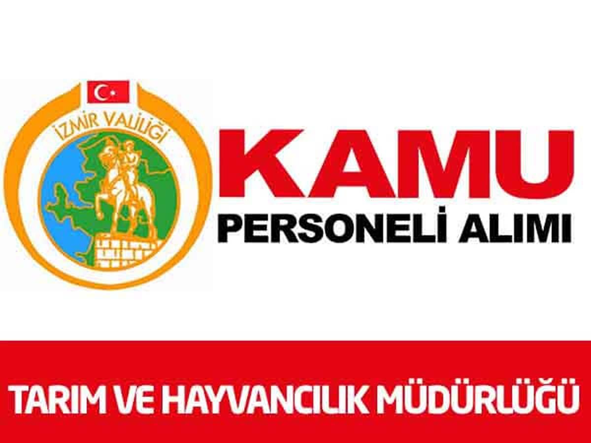 İzmir Valiliği Gıda Tarım ve Hayvancılık İl Müdürlüğü 1 İşçi Alımı