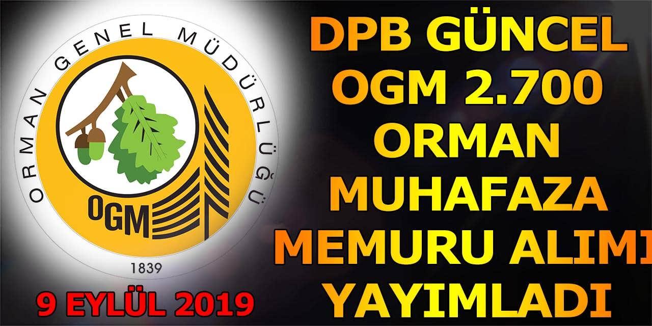 OGM 2.700 Orman Muhafaza Memur Alımı DPB Kılavuz Yayımladı