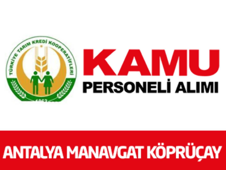 Antalya Manavgat Köprüçay Sol Sahil Sulama Birliği 1 Personel Alımı