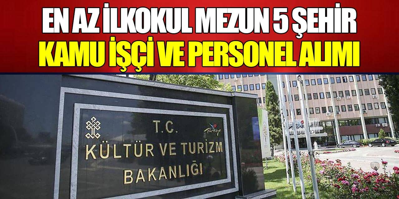 Kültür Bakanlığı Kazı Başkanlığı İçin 116 Kazı İşçisi Alınacak